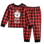 Toddler Jammies For Your Families Cool Bear Top & Bottoms Pajama Set by Cuddl Duds