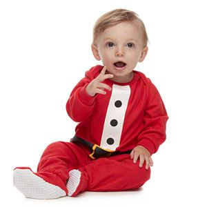 Baby Jammies For Your Families Fun Santa Footed Pajamas by Cuddl Duds