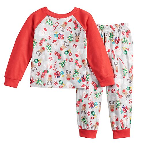 Toddler Jammies For Your Families Fun Santa Top & Bottoms Pajama Set by Cuddl Duds
