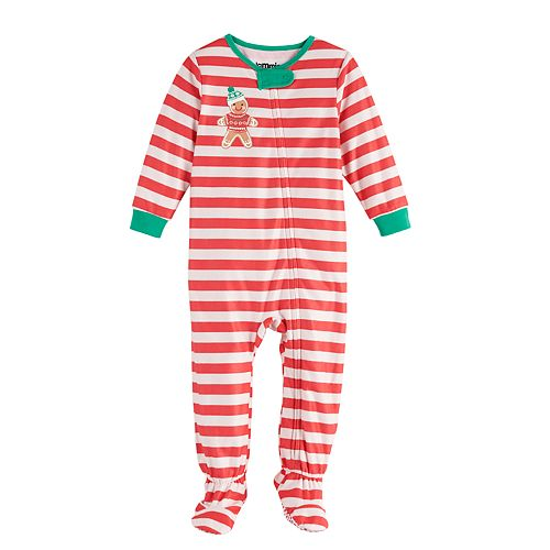 Baby Jammies For Your Families Stripe Baking Footed Pajamas by Cuddl Duds