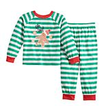 Toddler Jammies For Your Families Stripe Baking Top & Bottoms Pajama Set by Cuddl Duds