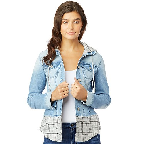 Juniors' Wallflower Dreamer Plaid Jacket