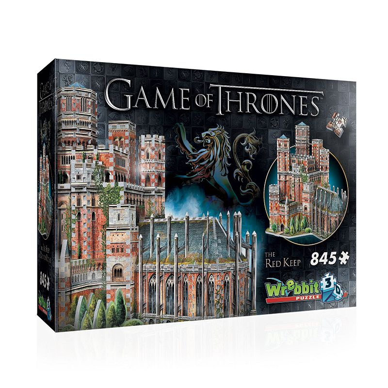 Wrebbit 3 Game Of Thrones The Red Keep 3D Puzzle Build your own 3D replica of The Red Keep with this Wrebbit 3 Game Of Thrones The Red Keep 3D Puzzle! Build your own 3D replica of The Red Keep with this Wrebbit 3 Game Of Thrones The Red Keep 3D Puzzle! Assembled dimensions: 16.5  L x 13  W x 15.5  H 845 pieces Unique Foam Backing Technology providing snug tight fitting pieces and sturdy design Stunning illustrations 3D Puzzle WHAT'S INCLUDED 845 pieces, decorative cardboard accessories, instruction leaflet 15.5 x 13 x 16.5 in Age: 14 years & up Polyethylene Foam and Paper Spot clean Assembly required Imported WARNING: This product can expose you to chemicals including polyethylene, which is known to the State of California to cause cancer. For more information, go to www.P65Warnings.ca.gov.. For more information go to www.P65Warnings.ca.gov. MODEL NUMBERS W3D-2017 Size: One Size. Color: Multicolor. Gender: unisex. Age Group: kids.