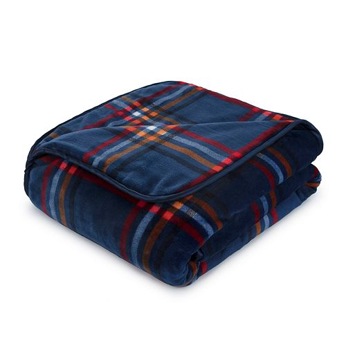 Vellux Heavyweight 12-lb. Weighted Plaid Reversible Throw