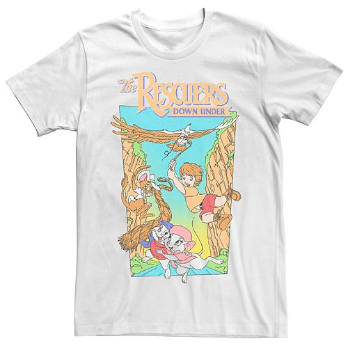 Men's Disney Rescuers Down Under Movie Poster Tee