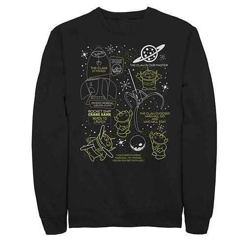 Men's Disney Pixar Toy Story Claw Master Schematics Fleece Sweater