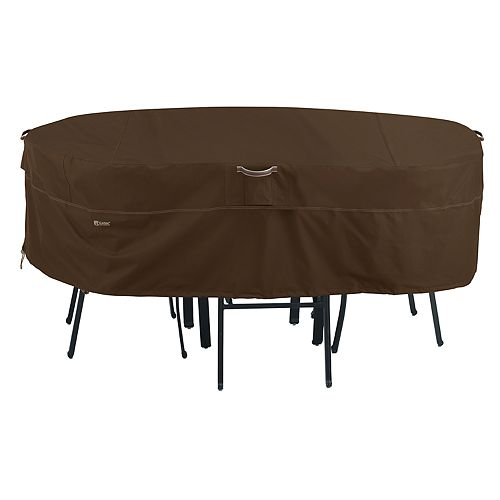 Classic Accessories Madrona X-Large Rectangular/Oval Patio Table & Chair Set Cover