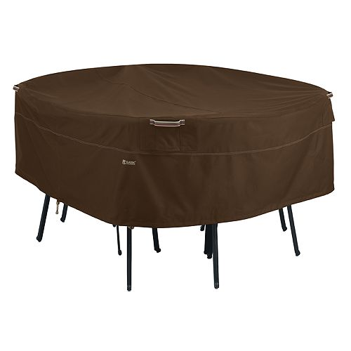 Classic Accessories Madrona Large Round Patio Table & Chair Set Cover