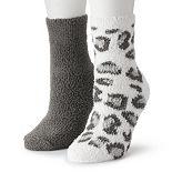Juniors' SO® 2-pack Slipper Socks