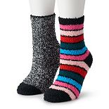 Juniors' SO® 2-pack Slipper Socks