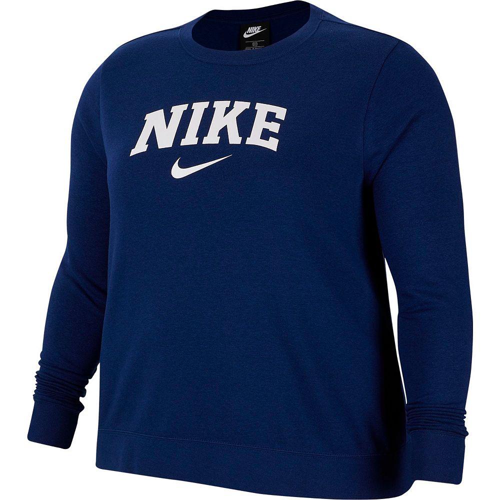 Plus Size Nike Logo Pullover Sweatshirt