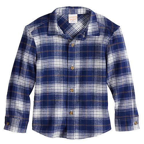 Toddler Boy Jumping Beans® Plaid Flannel Button-Up Shirt