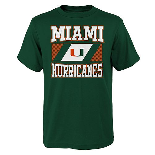 Boys 4-20 Miami Hurricanes College Team Pride Tee