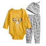 Disney's The Lion King Simba Baby Boy Bodysuit, Pants & Hat Set by Jumping Beans®