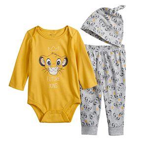 Disney's The Lion King Simba Baby Boy Bodysuit, Pants & Hat Set by Jumping Beans®