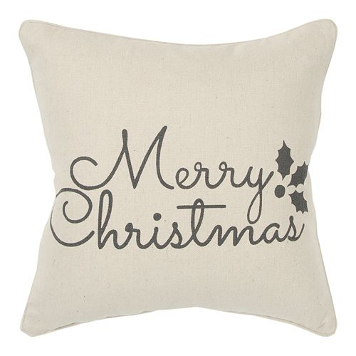 Rizzy Home Merry Christmas Throw Pillow