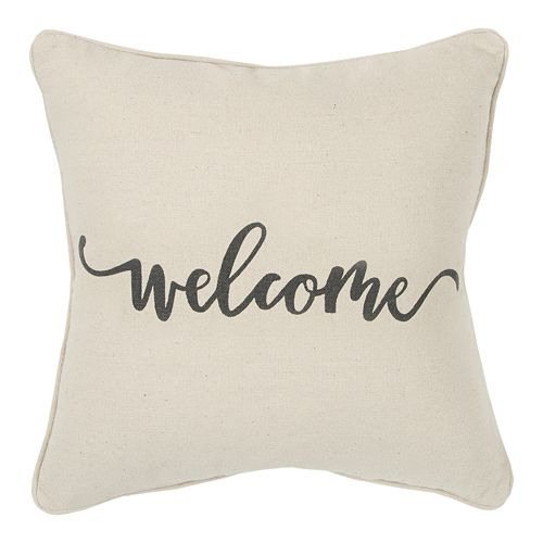 Rizzy Home Welcome Throw Pillow