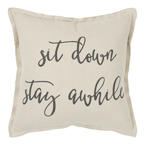 Rizzy Home Set Down Throw Pillow