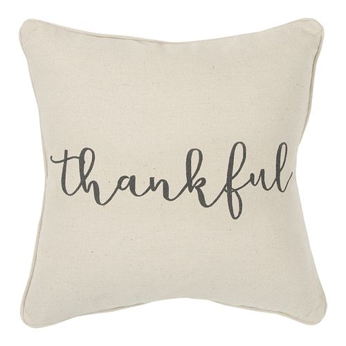 Rizzy Home Thankful Rizzy Throw Pillow