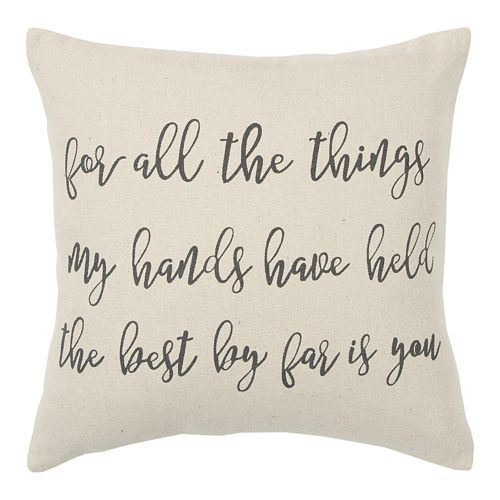 Rizzy Home Hand Held Throw Pillow