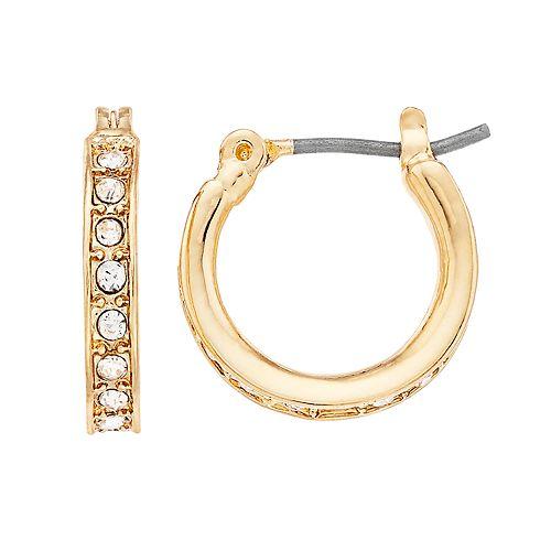 Nine West Pave Hoop Earrings