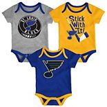Baby St. Louis Blues 3-Pack Cuddle & Play Bodysuits