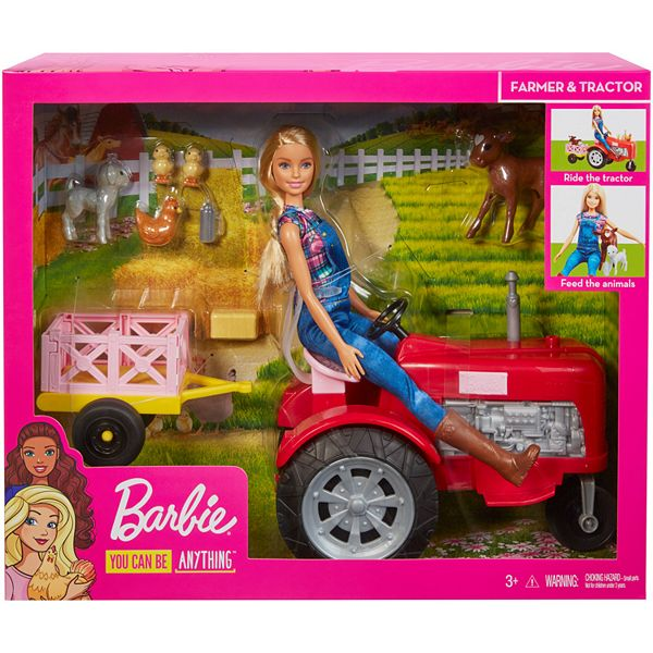 barbie doll and tractor barbie doll and tractor