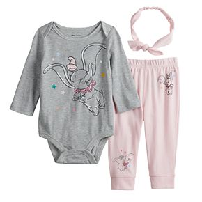 Disney's Dumbo Baby Girl Bodysuit, Pants & Headband Set by Jumping Beans®