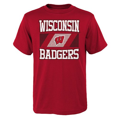 Boys 4-20 Wisconsin Badgers College Team Pride Tee