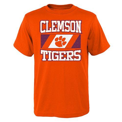 Boys 4-20 Clemson Tigers College Team Pride Tee