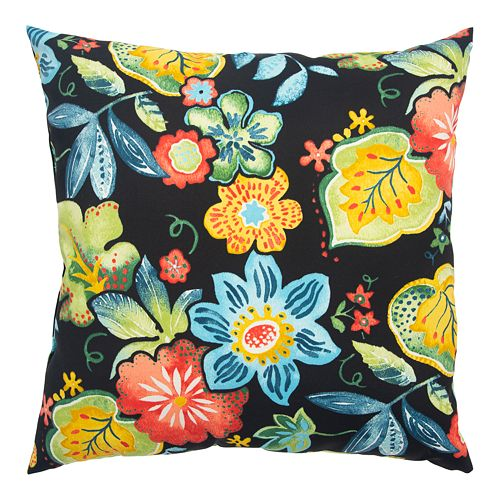 Rizzy Home Flora Indoor/Outdoor Throw Pillow