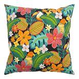 Rizzy Home Anita Indoor Outdoor Tropical Throw Pillow