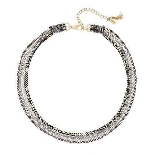 Simply Vera Vera Wang Tri-Tone Multi Strand Necklace