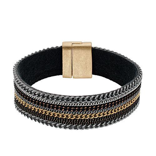 Simply Vera Vera Wang Multi Chain Flex Bracelet