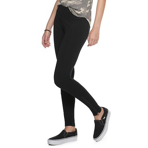 Juniors' Zip Hem Ponte Mudd® Legging