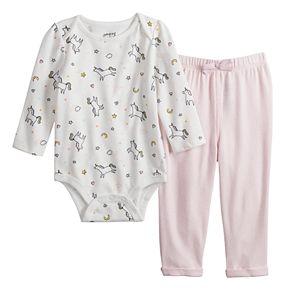 Baby Girl Jumping Beans® Bodysuit & Cozy Pants Set
