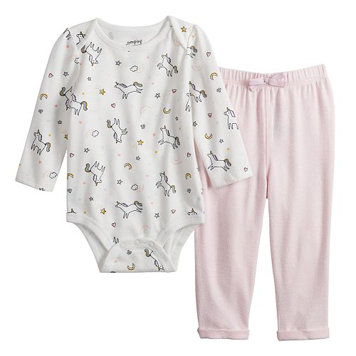 Baby Girl Jumping Beans® Bodysuit & Cozy Pants Set