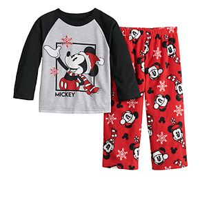 Disney's Mickey Mouse Toddler Top & Bottoms Pajama Set by Jammies For Your Families