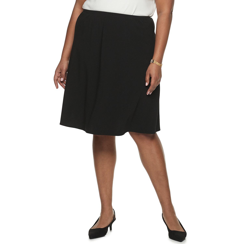 Plus Size Croft & Barrow® Pull-On Skirt