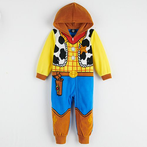 Disney / Pixar's Toy Story 4 Toddler Boy Woody One-Piece Pajamas by Jammies For Your Families
