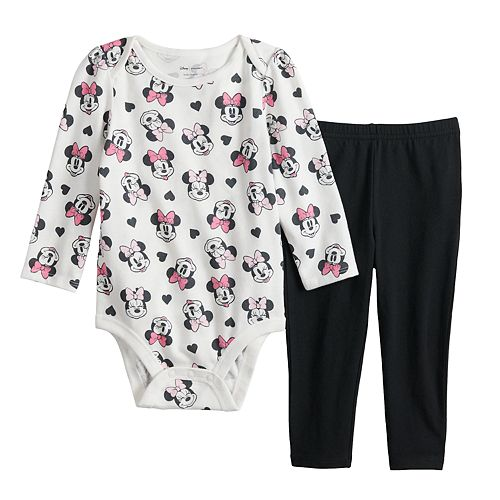 Disney's Minnie Mouse Baby Girl Graphic Bodysuit & Leggings Set by Jumping Beans®