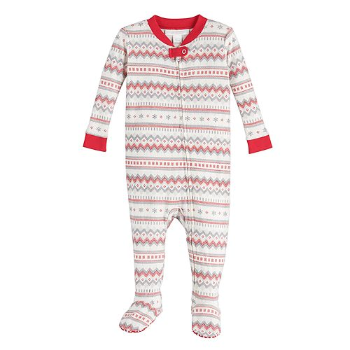 Baby LC Lauren Conrad Jammies For Your Families® Fairisle Footed Pajamas