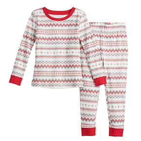 Toddler LC Lauren Conrad Jammies For Your Families Fairisle Top & Bottoms Pajama Set