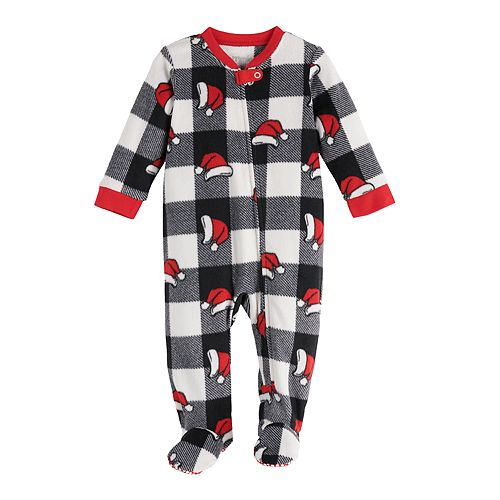 Baby Jammies For Your Families Jolly Santa Family Microfleece Blanket Sleeper One-Piece Pajamas