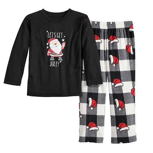 Toddler Jammies For Your Families Jolly Santa Family Tee & Pants Pajama Set