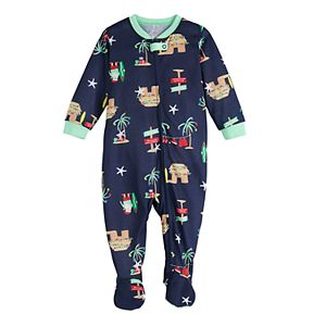 Baby Jammies For Your Families Flip Flop Holiday Family One-Piece Pajama