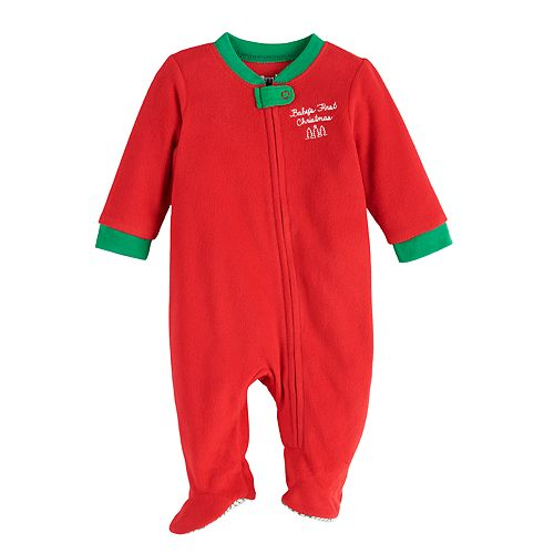 "Baby Jammies For Your Families ""We Jingled"" Baby's First Christmas Microfleece Sleep & Play"