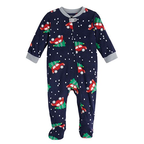 Baby Jammies For Your Families Home For The Holidays Microfleece Blanket Sleeper One-Piece Pajamas