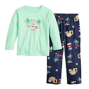 Toddler Jammies For Your Families Flip Flop Holiday Family Tee & Pants Pajama Set