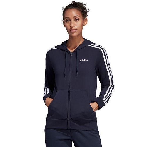 Details about Adidas Originals 3 Stripes Trefoil Women's Full Zip Fleece Classic Jacket Hoodie